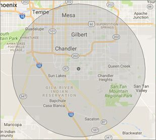 Gilbert Computer Repair Company on-site Virus Removal Service Area